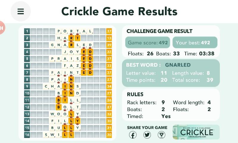 Crickle challenge