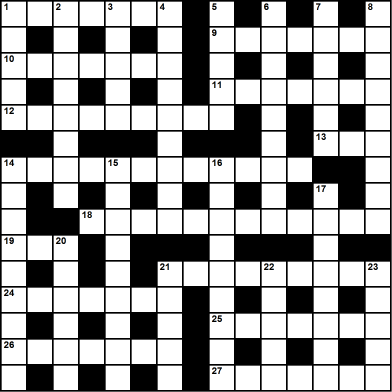 Cryptic crossword shared in tribute to Crickle
